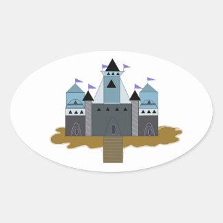 Mighty Castle Oval Sticker