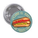 Mighty Dog Hotdog Personalised Buttons