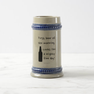 Mighty Fine Day beer stein