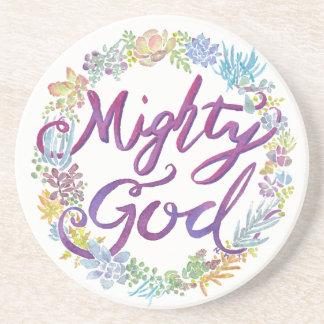 Mighty God - Isaiah 9:6 coaster
