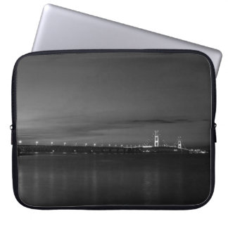 Mighty Mac At Night Pano Grayscale Laptop Sleeve