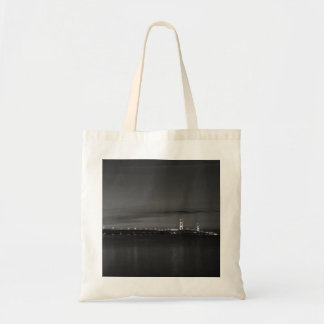 Mighty Mac At Night Pano Grayscale Tote Bag