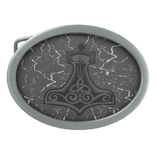 Mighty Mjolnir Oval Belt Buckle
