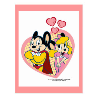 Mighty Mouse in Love Postcard
