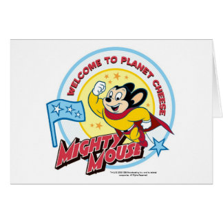 Mighty Mouse: 'Welcome' Greeting Card
