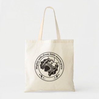 Mighty oaks from little acorns grow tote bag