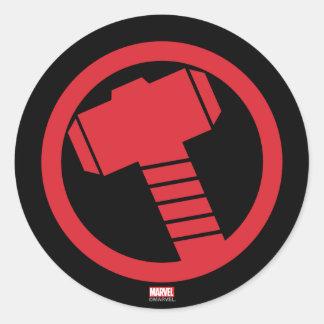 Mighty Thor Logo Classic Round Sticker