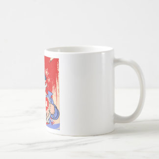 Mighty Uncle Sam Love USA Tattoo Coffee Mug