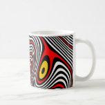 Migraine Aura Optical Illusion Basic White Mug