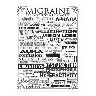 Migraine Awareness Postcard