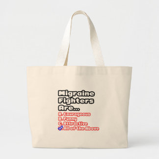 Migraine Fighter Quiz Canvas Bags