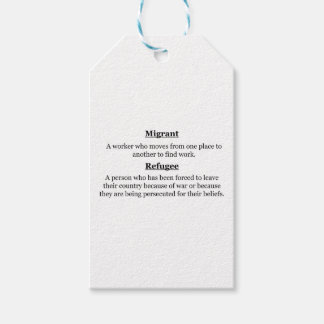 Migrant Refugees Gift Tags