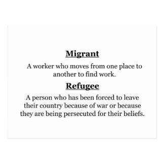 Migrant Refugees Postcard