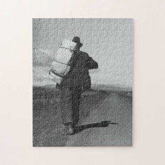 Migrant worker on California highway circa 1935 Jigsaw Puzzle