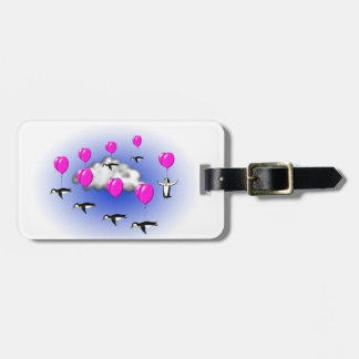 migrating penguins bag tag