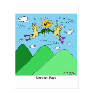 Migration Rage Postcard