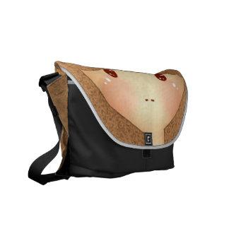 Mika Face Messenger Bags