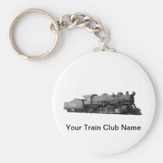 Mikado 2-8-2 Vintage Steam Engine Train Key Ring