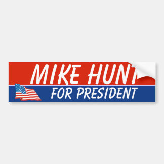 Mike Hunt For President Template Bumper Sticker