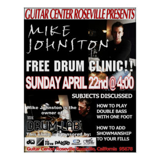 Mike Johnston Clinic, April 22nd Poster
