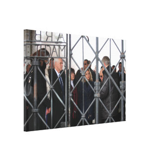 Mike, Karen, & Charlotte Pence at Dachau Canvas Print