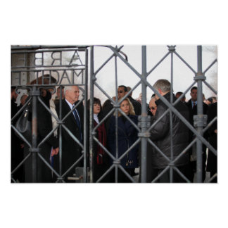 Mike, Karen, & Charlotte Pence at Dachau Poster
