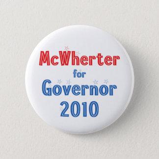 Mike McWherter for Governor 2010 Star Design 6 Cm Round Badge