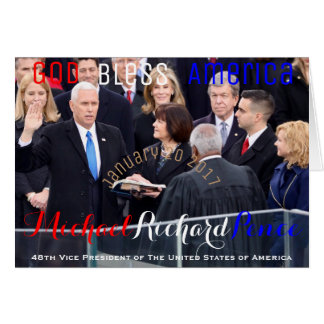 Mike Pence 48th Vice President of The USA Sworn In Card
