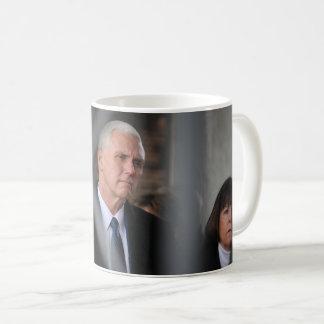 Mike Pence With Wife Karen At Dachau Coffee Mug