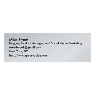 Mike Street, Blogger, Product Manager, and Soci... Pack Of Skinny Business Cards