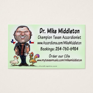 Mike & The Middletones Music Business Card