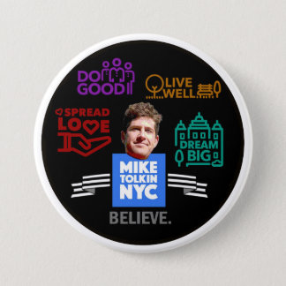 Mike Tolkin NYC 7.5 Cm Round Badge