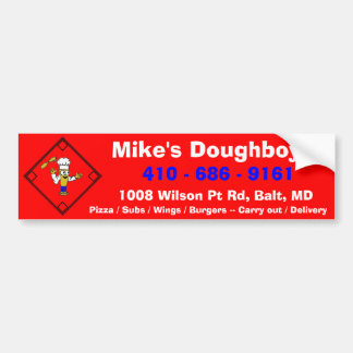 Mike's Doughboys Bumper Sticker