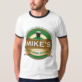 Mike's Dry Irish Stout Personalized Ringer Tshirt