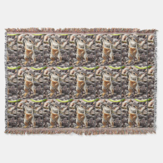 """Mikey"" Ground Squirrel Throw Blanket"