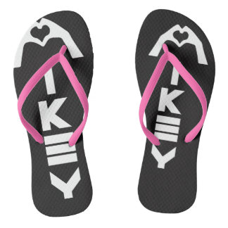 Mikey Sanley Black/Pink Sandals