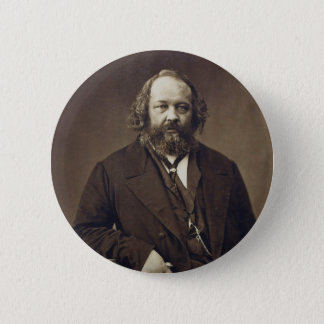 Mikhail Bakunin Russian Anarchist by Nadar 6 Cm Round Badge