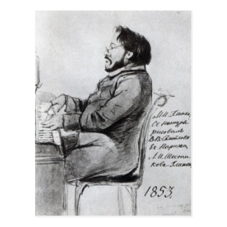 Mikhail Glinka, 1853 Postcard