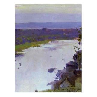 Mikhail Nesterov- River Belaya Postcard