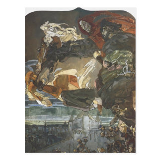 Mikhail Vrubel- Flight of Faust and Mephisto Postcard