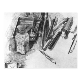 Mikhail Vrubel- Pencils Postcard