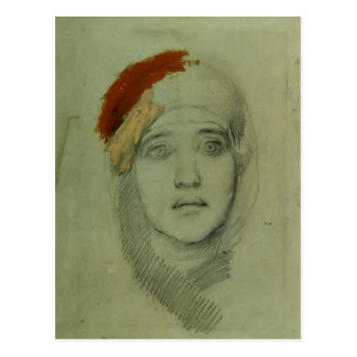 Mikhail Vrubel- Woman's Head (Emily L. Prahova) Postcard