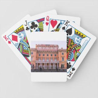Mikhailovsky Palace Fontanka River Bicycle Playing Cards