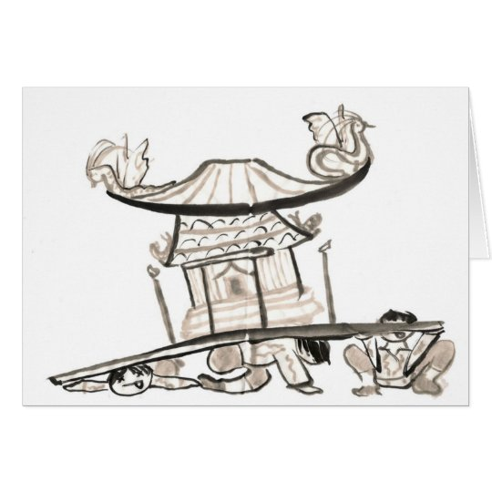 Mikoshi shrine card