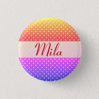 Mila name plate Anstecker 3 Cm Round Badge