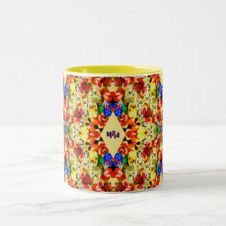 MILA ~ Personalised Christmas Pattern ~ Two-Tone Coffee Mug