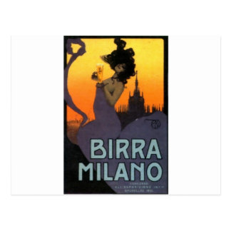 Milan Beer by Raphael Kirchner Postcard