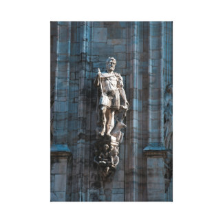 Milan Cathedral dome statue architecture monument Canvas Print