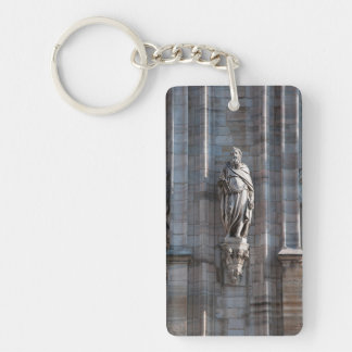 Milan Cathedral dome statue architecture monument Key Ring