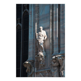 Milan Cathedral dome statue architecture monument Photo Print